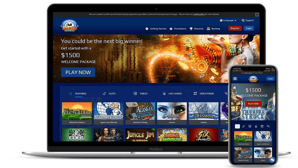 all slots casino homepage login