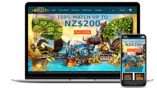 Lucky Nugget Nz Online Casino Review Get Nz 200 Bonus Free